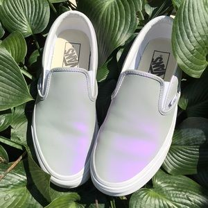 Vans Shoes - VANS IRIDESCENT MUTED METALLIC GREY   WHITE 8.5 71f7a99af